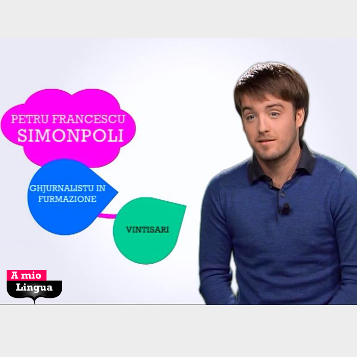 A mio Lingua cù Petru Francescu Simonpoli